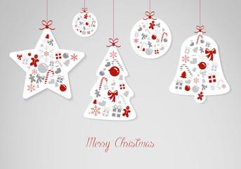 Hintergrund Weihnachten Christmas flatdesign