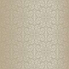 Beige baroque pattern