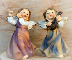 Weihnachtsengel musizieren