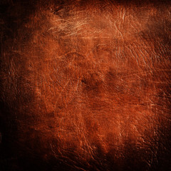 dark leather texture or background, square format