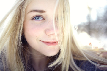 Beautiful young blonde teen