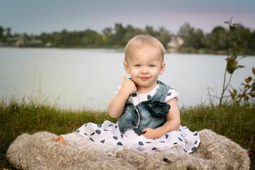 Happy Baby at the Lake