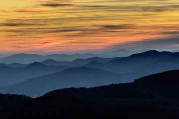 Photo Blinds Mountains Layers of the Blue Ridge Mountains