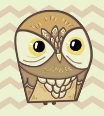 Wall Mural - owl illustration