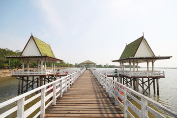 The pavilion, Bueng See Fai, Phichit Province Thailand.