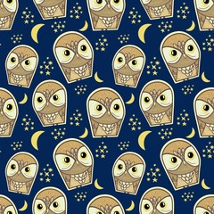 Wall Mural - owl pattern fashionable textiles