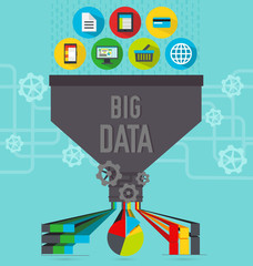 Big data illustration scheme