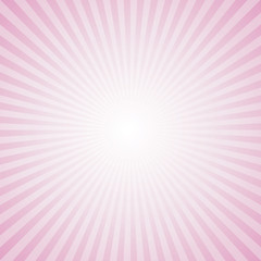 Sunburst Pattern. Radial background. Pink Color.