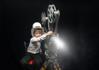 Cinema and boy