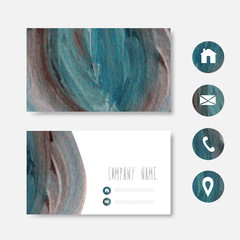 Oil painted business card