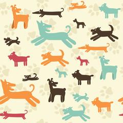 Dog pattern - Illustration