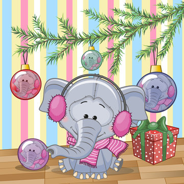 Elephant under the tree