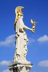 Athena statue at Austrian Parliament