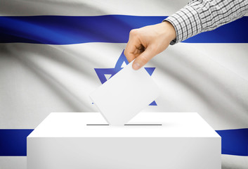 Ballot box with national flag on background - Israel