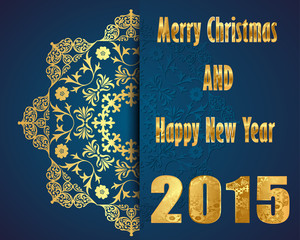 Merry Christmas, Happy New Year 2015, celebration concept
