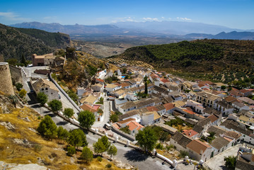 Cityscape, Moclin, Granada, Andalusia, Spain