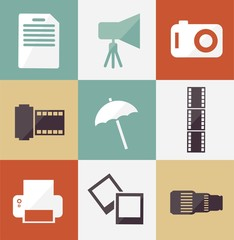 illustration of icon set photographer