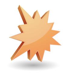 splash star burst 3d icon
