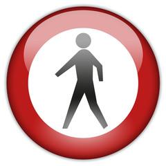 Button Patch Fußgänger verboten