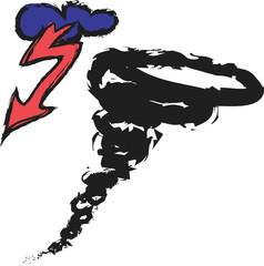 doodle tornado