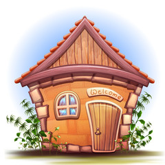 Illustration of cartoon home