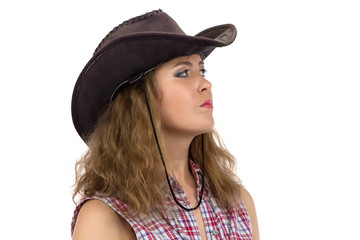 Image of cowgirl looking into the distance