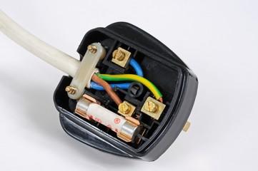 English plug wiring © Arena Photo UK
