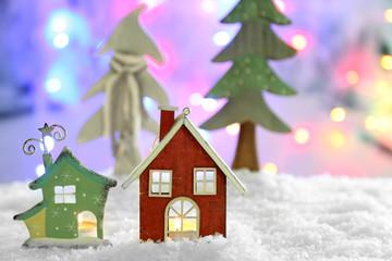 Beautiful Christmas composition on shiny background