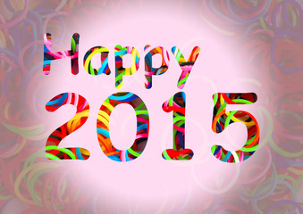 Happy 2015 colorful loom bands multi color