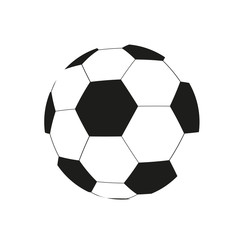 Vector drawing of a soccer ball