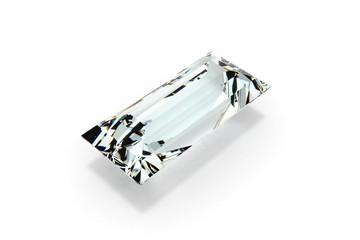 Diamond Step Cut, White Background