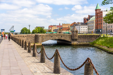 Petri Bridge in the old town of Malmo, Sweden