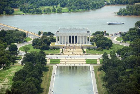 Lincoln Memorial Aerial View, Washington DC