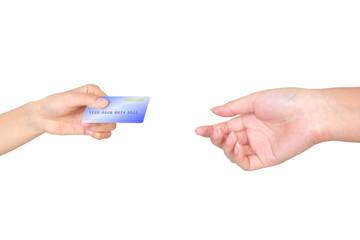 Hand credit card