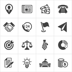 Trendy business and economics icons set 1. Vector