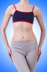 Woman body in dieting concept
