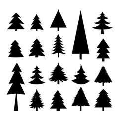 Tree Christmas Icon Vector