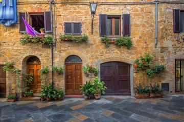 Fototapeta Toscania , Włochy,  Multipulcjano, fragment zabudowy obraz