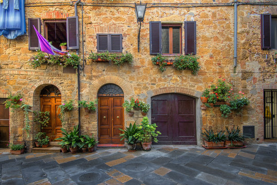 Toscania , Włochy,  Multipulcjano, fragment zabudowy