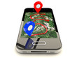 Mobile GPS navigation,travel and tourism concept