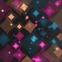 Background of futuristic abstract figures in space
