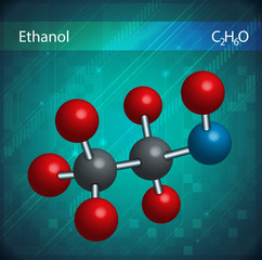 Ethanol molecules