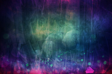 Poster Texturen dark abstract blue pink texture