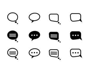 Vector black  and line speech bubble