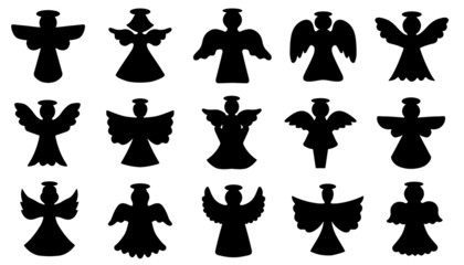 angel silhouettes Wall mural