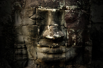 Wall Mural - Giant face of the Bayon temple, Angkor