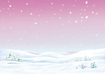 fondo con nieve