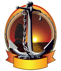 Anchor with the chain