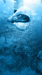 Blue bulb on water