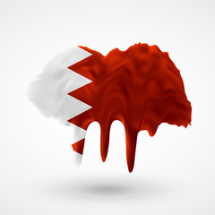 Flag of Bahrain painted colors